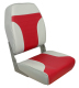 High Back Folding Seat, Gray-Red - Springfield Marine
