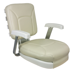 Ladder Back Chair, White - Springfield Marine
