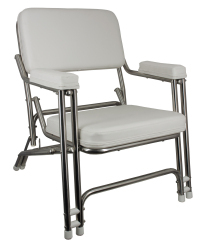 Classic Folding Deck Chair, Stainless Steel - Springfield Marine