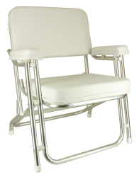 Classic Folding Deck Chair, Aluminum Brite Dip Finish - Springfield Marine