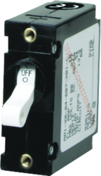 A-Series Toggle Single Pole AC/DC Circuit Breaker, 15Amp, Black Toggle - Blue Sea Systems