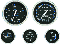 "Chesapeake SS Speedometer, 60 MPH, 4"", Sender Required - Faria"