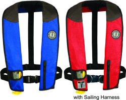 Manual PFD with Harness, Red/Black/Carbon - Mustang Survival
