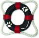 Paws Aboard Life Ring Dog Toy