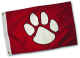 Paws Aboard Paw Print Flag