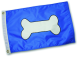 Paws Aboard Dog Bone Flag