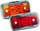 LED Clearance Light with Chrome Bezel, Amber  …