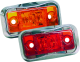 LED Clearance Light with Chrome Bezel, Red -  …