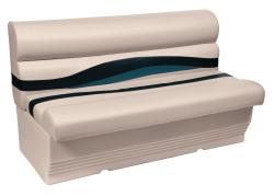 "Premier Pontoon 50"" Bench Seat, Platinum-Platinum Punch-Navy-Cobalt - Wise Boat Seats"