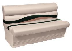 "Premier Pontoon 50"" Bench Seat, Platinum-Platinum Punch-Jade-Fawn - Wise Boat Seats"