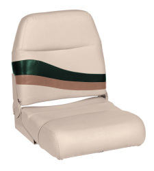 Premier Pontoon Fold Down Boat Seat, Platinum-Platinum Punch-Jade-Fawn - Wise Boat Seats