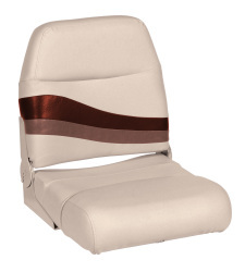 Premier Pontoon Fold Down Boat Seat, Platinum-Platinum Punch-Wineberry-Manatee - Wise Boat Seats