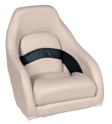 Premier Pontoon Captain Bucket Seat, Platinum-Platinum Punch-Navy-Cobalt - Wise Boat Seats