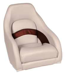 Premier Pontoon Captain Bucket Seat, Platinum-Platinum Punch-Wineberry-Manatee - Wise Boat Seats