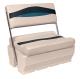 Premier Pontoon Flip-Flop Seat, Platinum-Platinum Punch-Navy-Cobalt - Wise Boat Seats