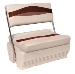 Premier Pontoon Flip-Flop Seat, Platinum-Platinum Punch-Wineberry-Manatee - Wise Boat Seats