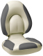 Centric SAS Folding Boat Seat, Off-White & Charcoal - Attwood