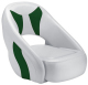 Avenir Sport Bucket Seat, Gray & Green - Attwood