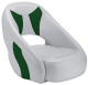 Avenir Sport Bucket Seat, Smoke & Green - Attwood
