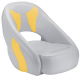 Avenir Sport Bucket Seat, Smoke & Yellow - Attwood