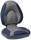Centric SAS Folding Boat Seat, Smoke & Blue - Attwood