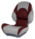 Centric II SAS Boat Seat, Smoke & Burgundy - Attwood