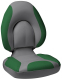 Centric SAS Folding Boat Seat, Smoke & Green - Attwood