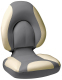 Centric SAS Folding Boat Seat, Smoke & Tan - Attwood