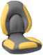 Centric SAS Folding Boat Seat, Smoke & Yellow - Attwood
