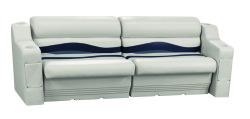 Premier Pontoon Rear or Side Seating Group, Platinum-Platinum Punch-Navy-Cobalt - Wise Boat Seats