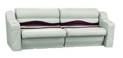 Premier Pontoon Rear or Side Seating Group, Platinum-Platinum Punch-Wineberry-Manatee - Wise Boat Seats