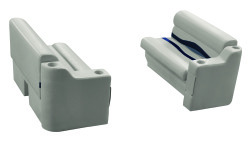 "Premier Pontoon Front Seat 36"" Group, Platinum-Platinum Punch-Navy-Cobalt - Wise Boat Seats"