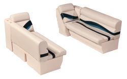 "Premier Pontoon Front Lounge 50"" Group, Platinum-Platinum Punch-Navy-Cobalt - Wise Boat Seats"