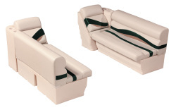"Premier Pontoon Front Lounge 50"" Group, Platinum-Platinum Punch-Jade-Fawn - Wise Boat Seats"