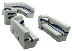 Premier Pontoon 8.5 ft with Boat Rear Entry Group, Platinum-Platinum Punch-Navy-Cobalt - Wise Boat Seats