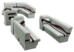 Premier Pontoon 8.5 ft with Boat Rear Entry Group, Platinum-Platinum Punch-Wineberry-Manatee - Wise Boat Seats