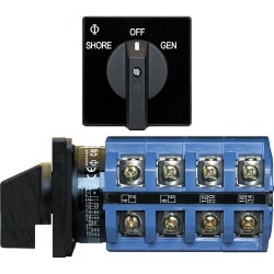 9093 Rotary Switch AC 120 + 120/240VAC OFF+2 Positions - Blue Sea Systems