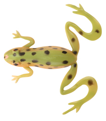 "Berkley Powerbait 4"" Kicker Frog - Color: Leopard Frog"
