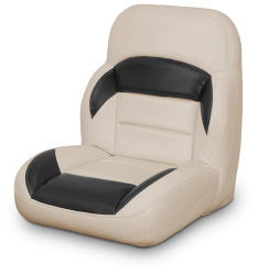 Low Back Non-Reclining Helm Seat, Tan and Black - Lexington Seats