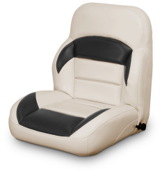 Low Back Reclining Helm Seat, Tan and Black - Lexington Seats