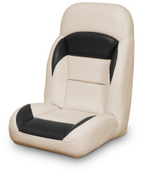 High Back Reclining Helm Seat, Tan and Black - Lexington Seats