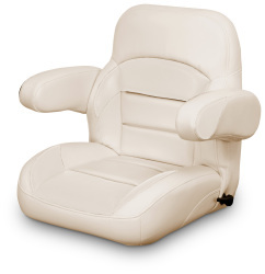 Low Back Reclining Helm Seat with Arms, Tan - Lexington Seats