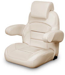 Low Back Reclining Helm Seat with Arms & Headrest, Tan - Lexington Seats