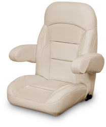 High Back Reclining Helm Seat with Arms, Tan - Lexington Seats