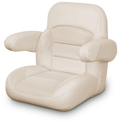 Low Back Non-Reclining Helm Seat with Arms, Tan - Lexington Seats