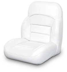 Low Back Non-Reclining Helm Seat, White - Lexington Seats