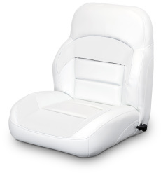 Low Back Reclining Helm Seat, White - Lexington Seats