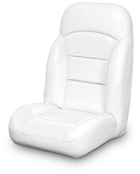 High Back Reclining Helm Seat, White - Lexington Seats