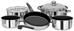 COOKWARE 10PC. S/S W/ NONSTICK - Magma