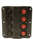 LED 4 GNG CIRCUT BREAKER PANEL - Seachoice